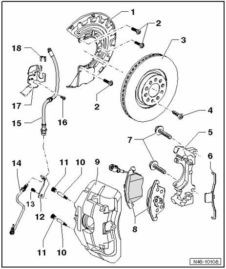 VW Genuine R32 Brake caliper p/n list 項目2|ゴルフ (ハッチバック