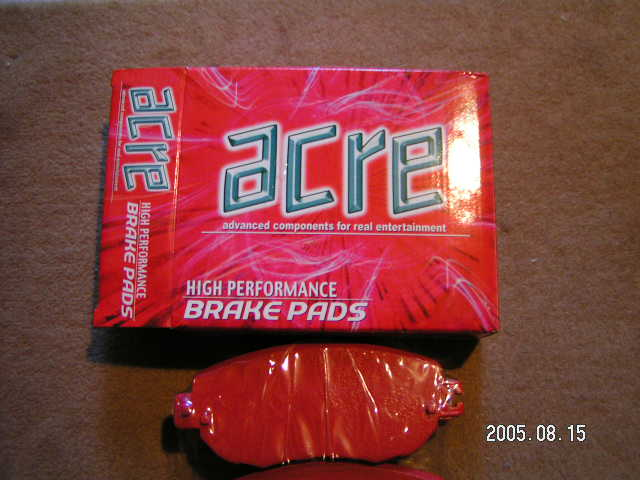 acre HIGH PERFOMANCE BRAKE PADS