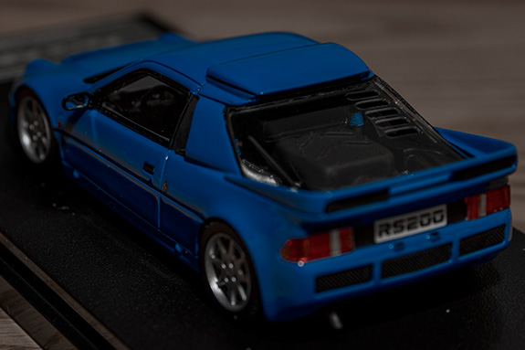 hpi MIRAGE 1/43 Ford RS200 Blue フォード モデルカー