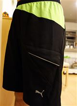 【PUMA】FAAS Long Woven Shorts 510250-01 Black / Jasmine Green
