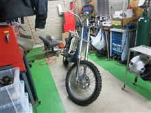YZ250Fの進捗。