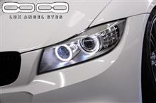 BMW3ツーリング(E91)とLUX H8 160 ANGEL EYES