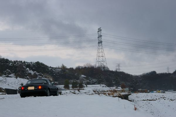 雪とEunos Roadster VR Limited CombinationB