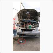 98 Civic: A/C check and charge @171290の画像