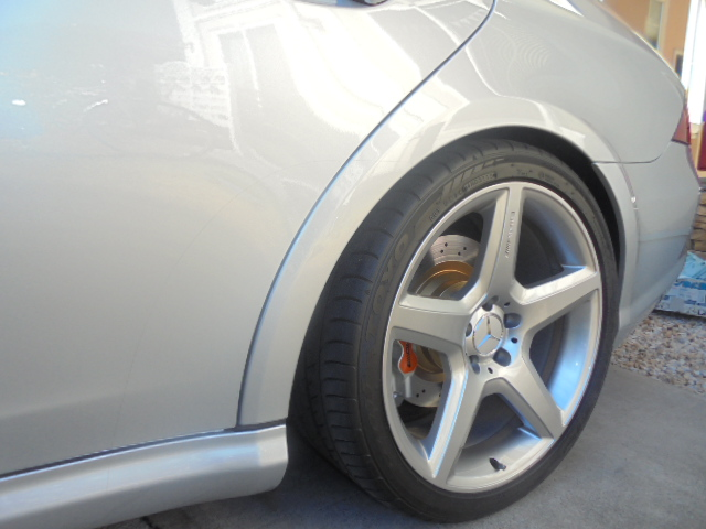 CLS55 リヤブレーキパッド交換