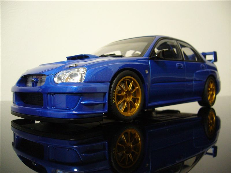 AUTO art 1/18 SUBARU NEW AGE IMPREZA WRC 2003' PLAIN BODY VERSION ( BLUE )