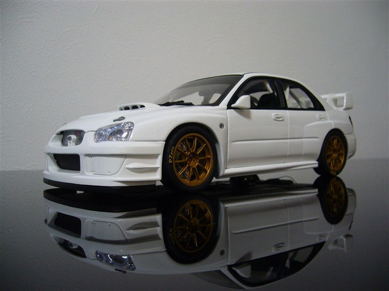 AUTO art 1/18 SUBARU NEW AGE IMPREZA WRC 2003' PLAIN BODY VERSION ( WHITE )