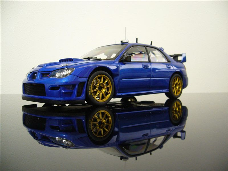 AUTO art 1/18 SUBARU NEW AGE IMPREZA WRC 2006' PLAIN BODY VERSION ( BLUE )