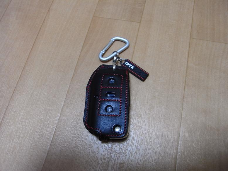 F.O.B Schrank Leather Key Cover Black&Red