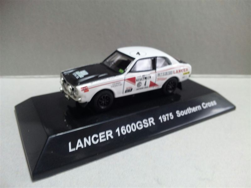 1/64 RALLY CAR COLLECTION SS.17 MITSUBISHI LANCER 1600GSR 1975 Southern Cross