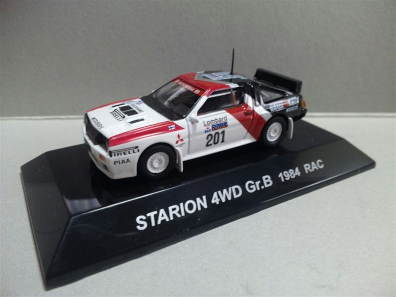 1/64 RALLY CAR COLLECTION SS.17 MITSUBISHI STARION 4WD Gr.B 1984 RAC