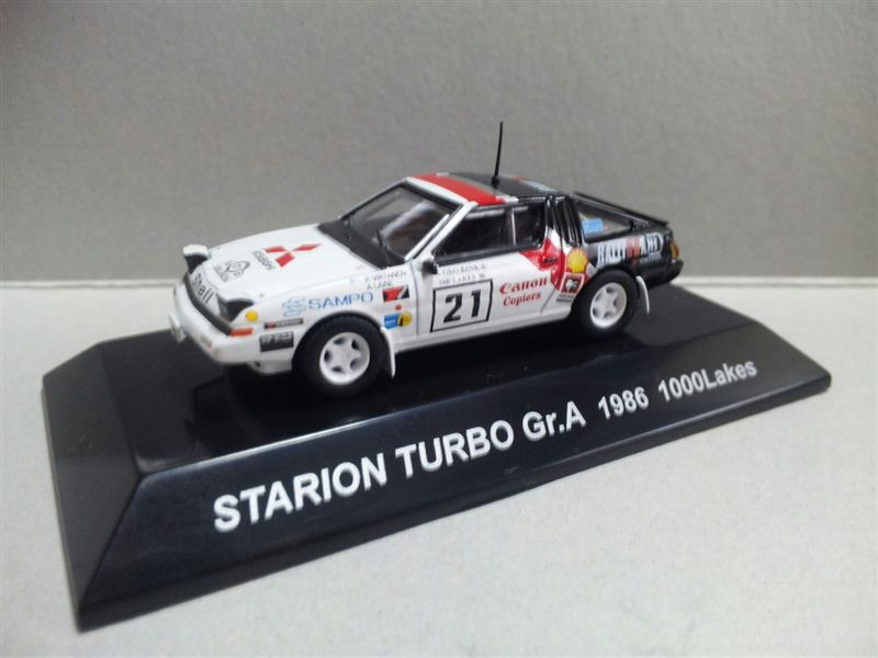 1/64 RALLY CAR COLLECTION SS.17 MITSUBISHI STARION TURBO Gr.A 1986 1000Lakes
