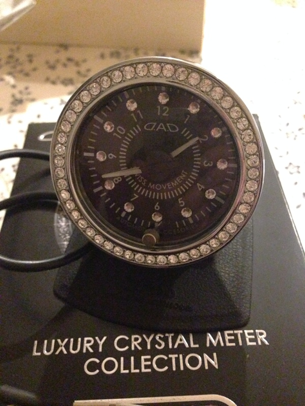 D.A.D / GARSON  LUXURY CRYSTAL METER COLLECTION CLOCK