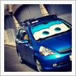 Disney cars sunshade blue