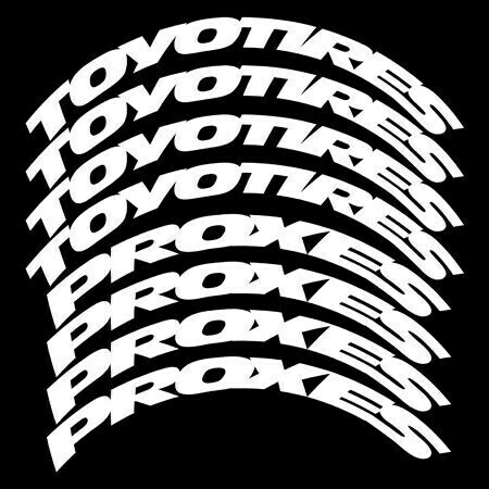 TIRE STICKERS TOYOTIRES PROXES