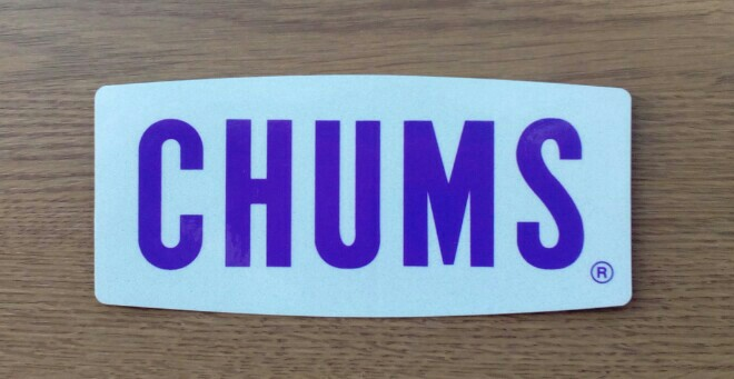 CHUMS Sticker CHUMS Reflector Logo