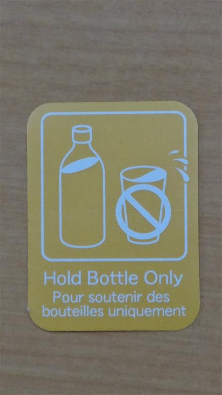 トヨタ(純正) LABEL, BOTTLE HOLDER INFORMATION