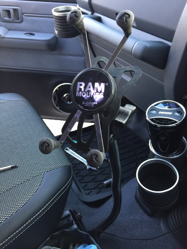 RAM MOUNTS RAM POD No-Drill Vehicle Mount with Universal X-Grip Large Phone/Phablet Cradle