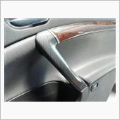 a-zperformance Carbon-Silver patterned door handle cover
