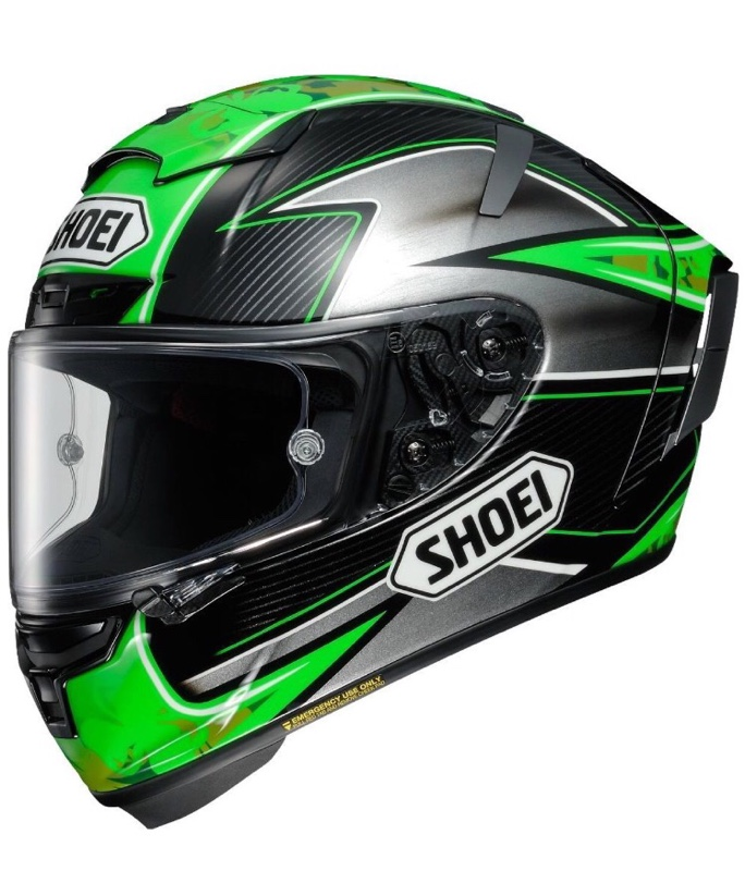 SHOEI X-Fourteen LAVERTY(ラバティー) TC-4 (GREEN/BLACK) L (59~60cm)