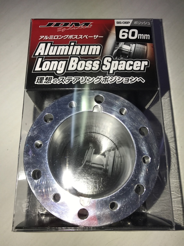 JDM Sports Aluminium Long Boss Spacer ポリッシュ 60mm