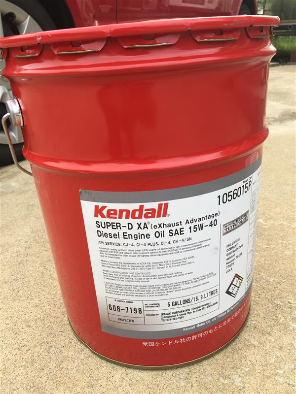 kendall Super-D XA Synthetic Blend Diesel Engine Oil with Liquid Titanium 15W-40