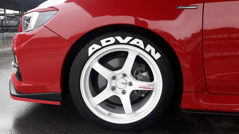 made in USA ADVAN  タイヤステッカー