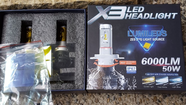 不明 X3LED HEADLIGHT