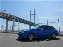 青いカメさんのインプレッサ スポーツワゴン WRX 左サイド画像