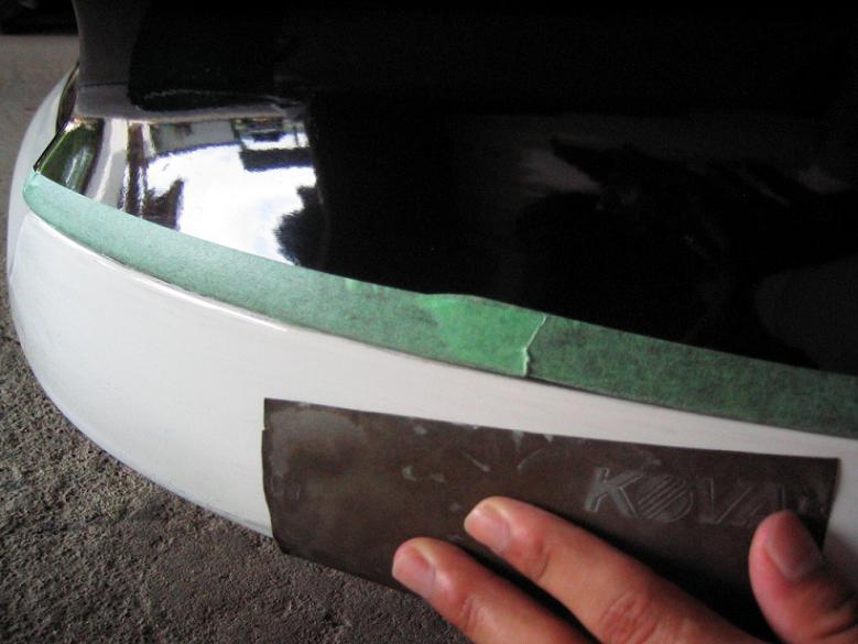 次に800~900のサンドぺーパーで塗装表面をツヤがなくなるまで磨きます!