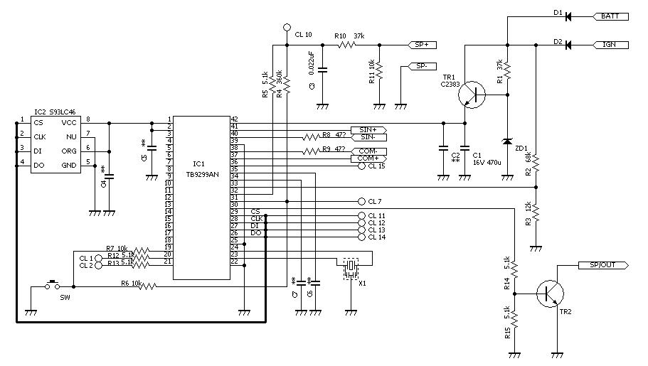 インプホワイトメータ回路<br /> フォレA型回路<br /> <br /> 修正しました。<br /> 液晶パネルの配線は省いています。