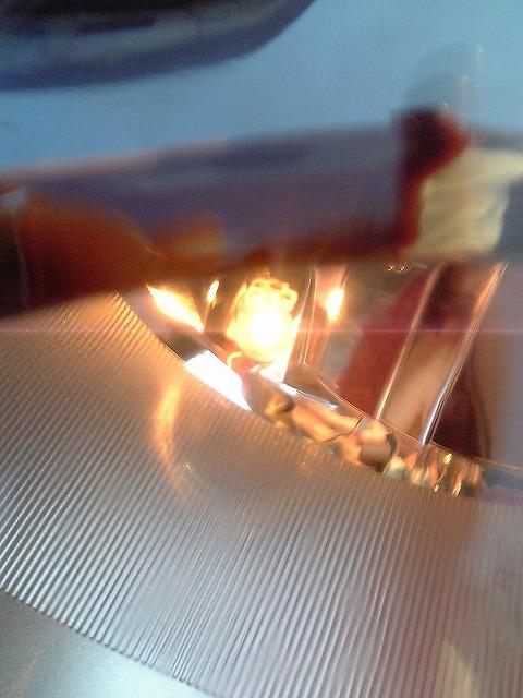 【早朝の下】純正ポジション球→しまりす堂12灯LEDに交換