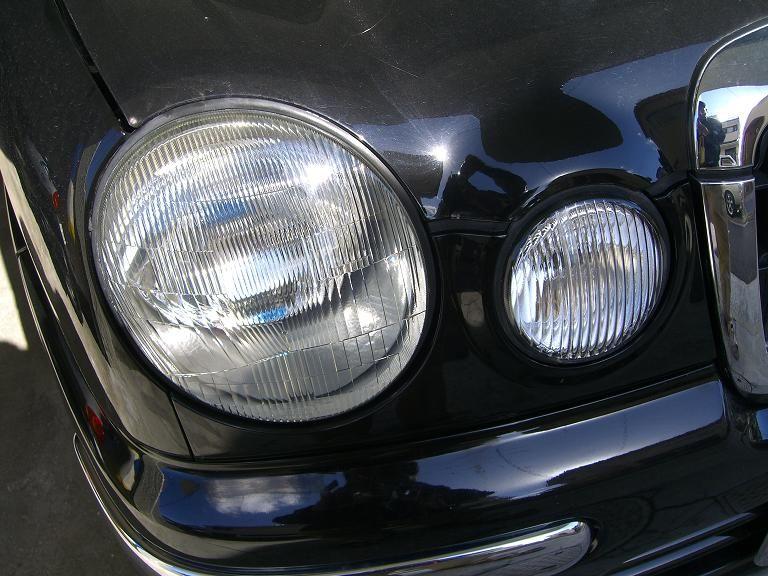 ヘッドライトレンズの洗浄+自作LEDポジション装着