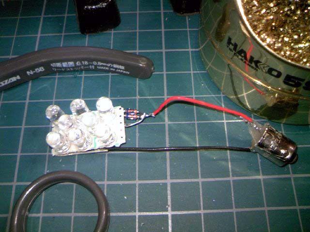 自作、LEDマップランプ