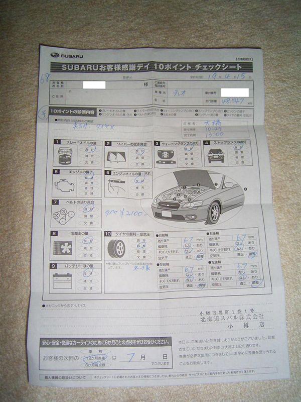 SUBARU 10POINT点検(プレオ)③