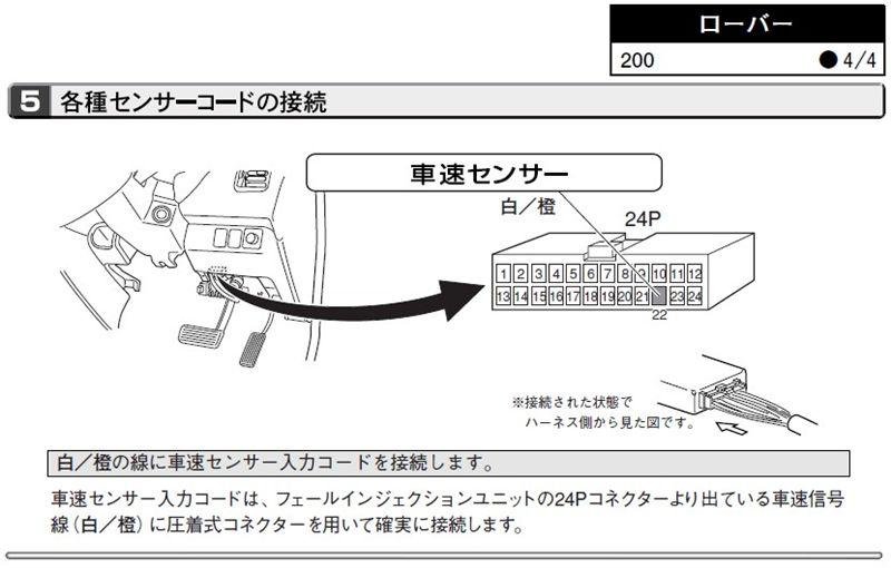 200シリーズ ハッチバック オーディオ&ナビ取り付け時のお役立ち情報。のカスタム手順1