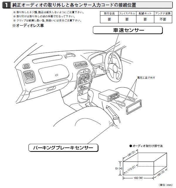 200シリーズ ハッチバック オーディオ&ナビ取り付け時のお役立ち情報。のカスタム手順2