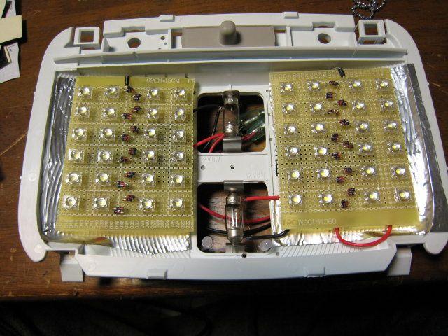 自作LEDルームランプ&残照回路&クリスタルレンズ