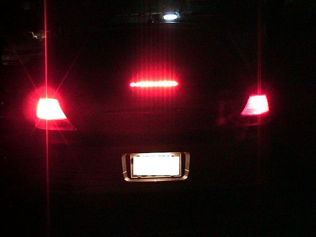LED ブレーキランプ(夜)