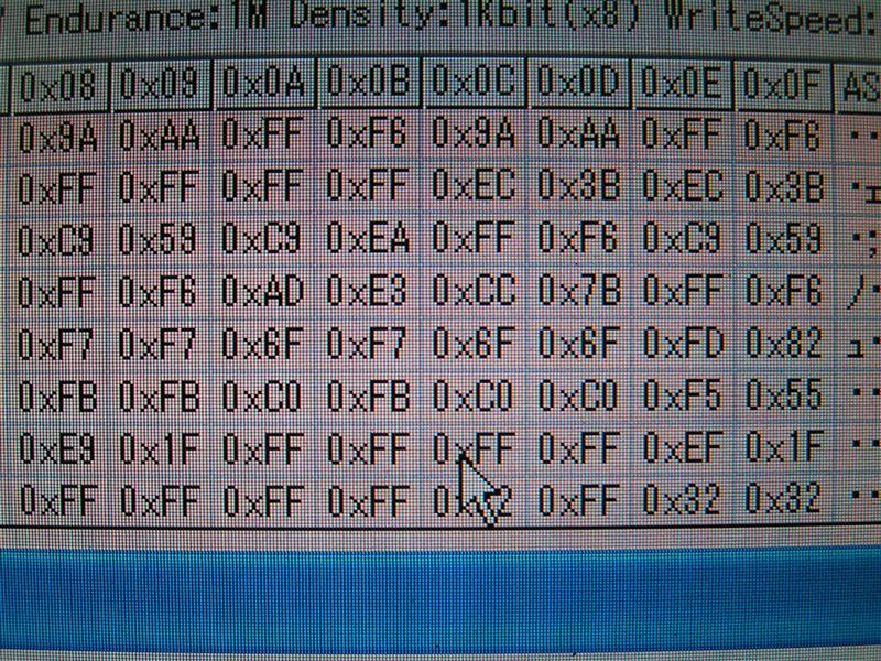 これがスピードだけ変更したデーターです。<br /> <br /> 220メーターのデーターに変えてありますが判りますか~(^^)<br /> <br /> 注:ROMを取り外す時ヒートクラッシュさせない事。<br />   元データーはしっかりと保存すること。<br />   完全自己責任で作業お願いします。