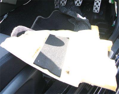 BLレガシィの運転席足下の床のアンコ