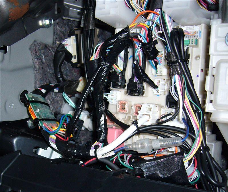 車速感応ドアロック装置の取付