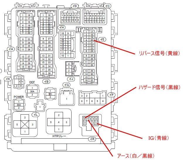 八木澤Web 「リバース連動ハザードユニット」の取り付け