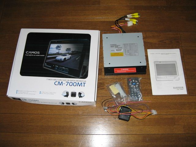 CAMOS DVDプレーヤー・モニター・バックカメラ・カメラ用電源