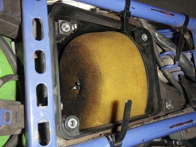 KLX250 エアクリ清掃のカスタム手順2