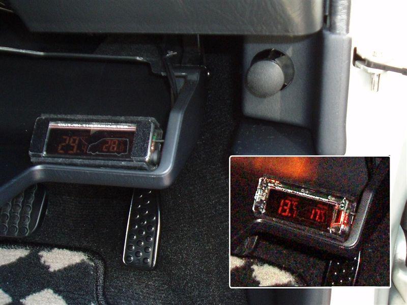 車内外温度計取付け