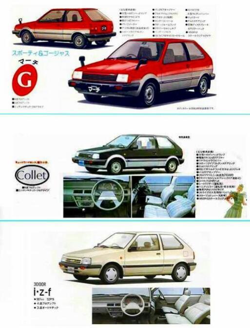マーチK10型系の歴史、車種構成