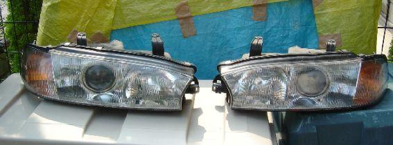 前期型レガシィBGに、BG後期用プロジェクターヘッドライト(4灯式)を取付ける!!