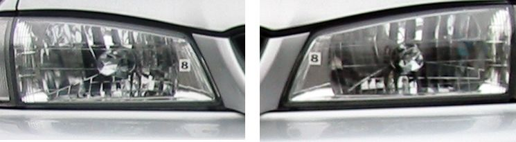 インプレッサ スポーツワゴン WRXスバル GC8 RA 純正マルチリフレクター・ヘッドランプの単体画像