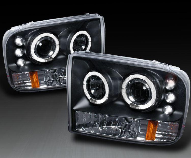 エクスカージョン??? プロジェクターヘッドライト (LED&イカリング付き)の単体画像